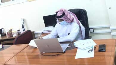 Photo of مدير مكتب تعليم بيش يجتمع بأقسام الشؤون التعليمية افتراضيًا